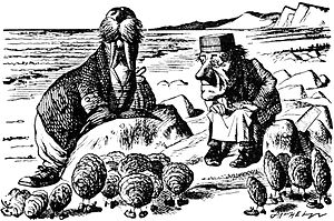 Cartoon of the Walrus and the Carpenter from Through the Looking Glass